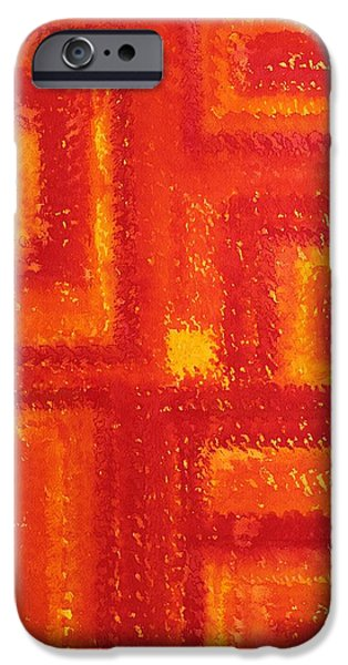 Printmaking iPhone Cases - Navajo Rug original painting iPhone Case by Sol Luckman
