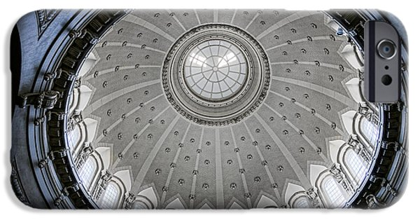 House Md iPhone Cases - Naval Academy Chapel Dome Interior iPhone Case by Olivier Le Queinec