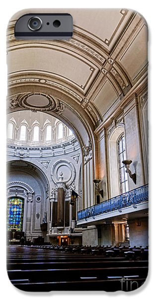 House Md iPhone Cases - Naval Academy Chapel Interior iPhone Case by Olivier Le Queinec