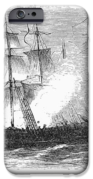 NAVAL BATTLE, 1779 iPhone Case by Granger