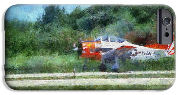 Jet Star iPhone Cases - Navel Plane Wheels Up Photo Art iPhone Case by Thomas Woolworth