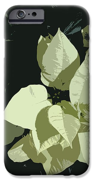 Alga Paintings iPhone Cases - Navidad iPhone Case by Julio R Lopez Jr
