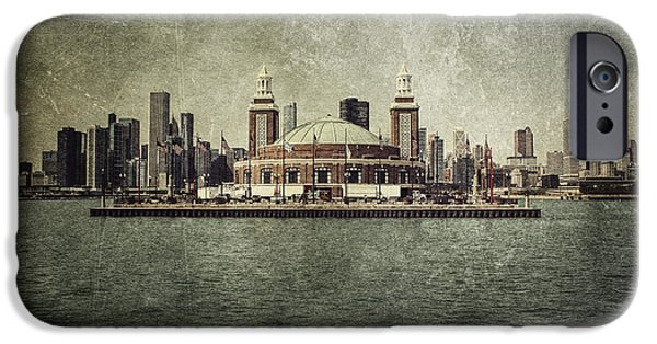 60s Photographs iPhone Cases - Navy Pier iPhone Case by Andrew Paranavitana