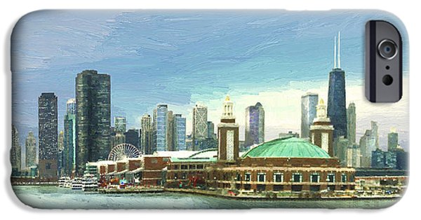 Windy City iPhone Cases - Navy Pier Chicago --Winter iPhone Case by Doug Kreuger