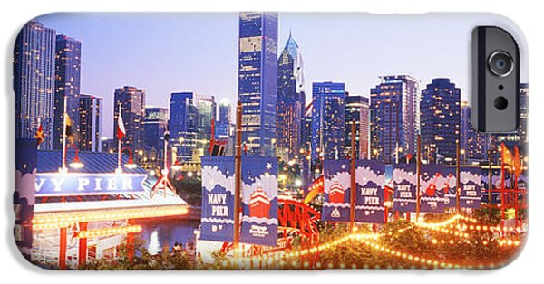 Il iPhone Cases - Navy Pier Chicago Il iPhone Case by Panoramic Images