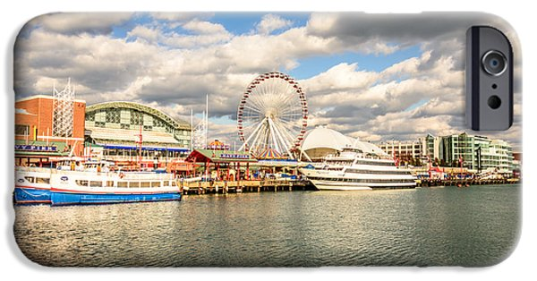 Print Photographs iPhone Cases - Navy Pier Chicago Photo iPhone Case by Paul Velgos