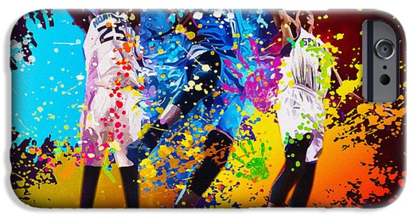 Dunk iPhone Cases - NBA Season poster - part 4 iPhone Case by Don Kuing