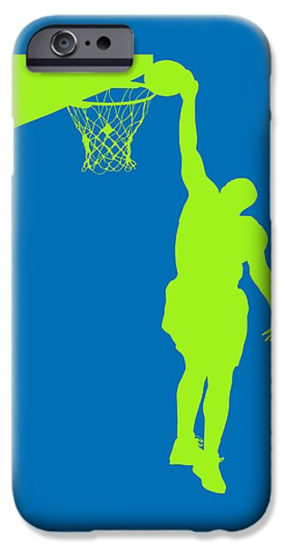 Dunk iPhone Cases - Nba Shadow Players iPhone Case by Joe Hamilton
