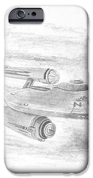 NCC-1701 Enterprise iPhone Case by Michael Penny