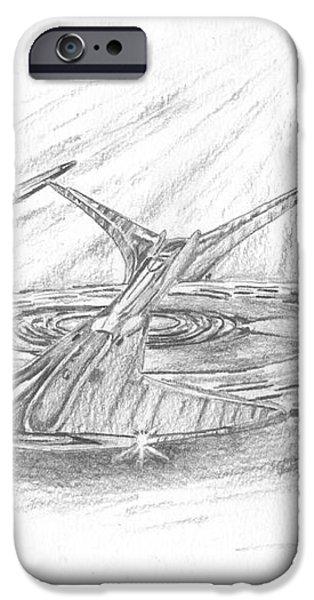 NCC-1701-J Enterprise iPhone Case by Michael Penny