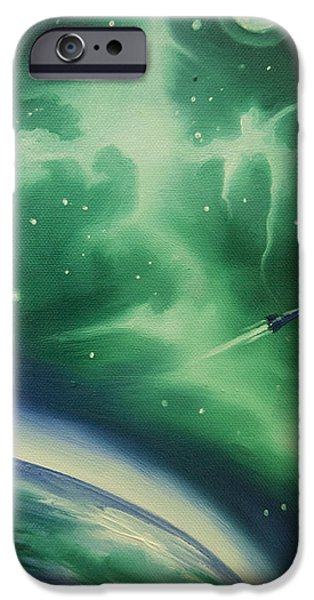 Black Hole Paintings iPhone Cases - Ncg - 1016 iPhone Case by James Christopher Hill