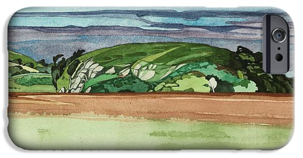 Mull iPhone Cases - Near Dervaig, 2000 Wc On Paper iPhone Case by Anna Teasdale