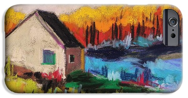 Jmw Pastels iPhone Cases - Near Dusk iPhone Case by John  Williams