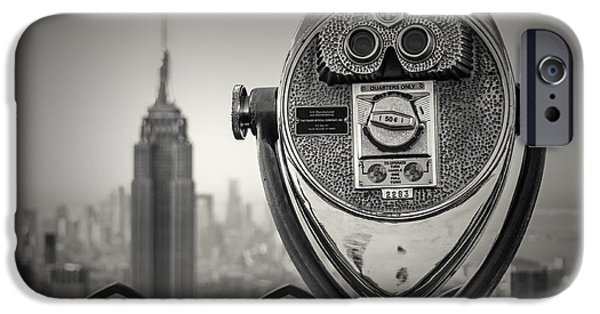 Empire State iPhone Cases - Near sighted helper iPhone Case by Chris Fletcher
