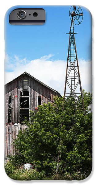 Old Barn iPhone Cases - Near the End iPhone Case by David Bearden