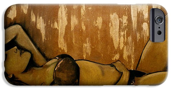 Dream Scape iPhone Cases - Nearly Naked Bronze iPhone Case by Debi Starr