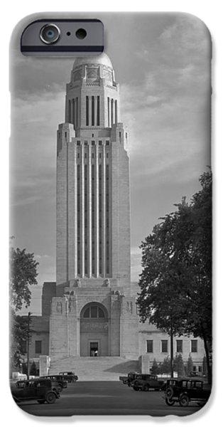 Nebraska iPhone Cases - Nebraska Capitol Building 1934 iPhone Case by Mountain Dreams