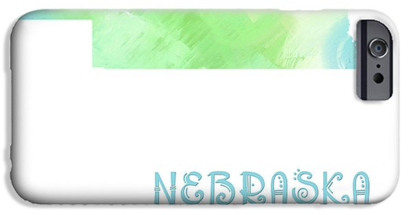 Nebraska iPhone Cases - Nebraska - Cornhusker State - Map - State Phrase - Geology iPhone Case by Andee Design
