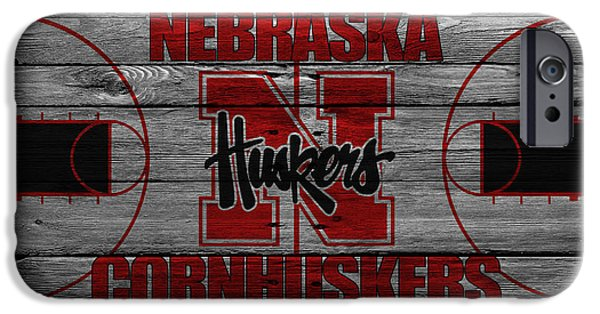 Nebraska iPhone Cases - Nebraska Cornhuskers iPhone Case by Joe Hamilton