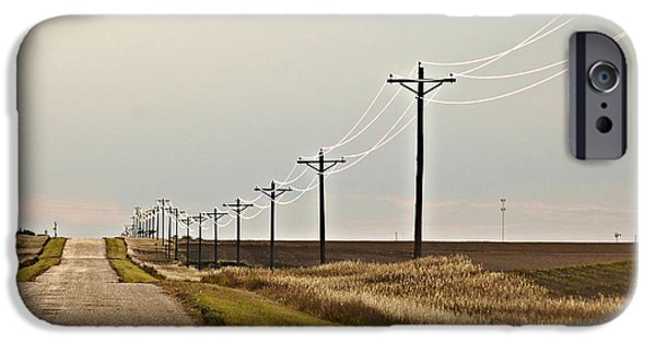 Nebraska Pyrography iPhone Cases - Nebraska Silver Lines iPhone Case by Krisztina  Gayler