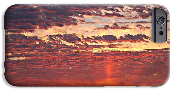 Nebraska Pyrography iPhone Cases - Nebraska Sunset  iPhone Case by Krisztina  Gayler