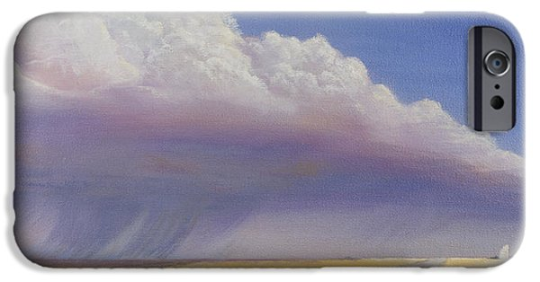 Storm Paintings iPhone Cases - Nebraska Vista iPhone Case by Jerry McElroy