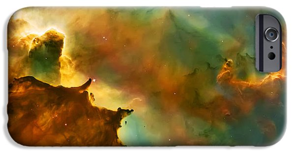 Abstract Photographs iPhone Cases - Nebula Cloud iPhone Case by The  Vault - Jennifer Rondinelli Reilly