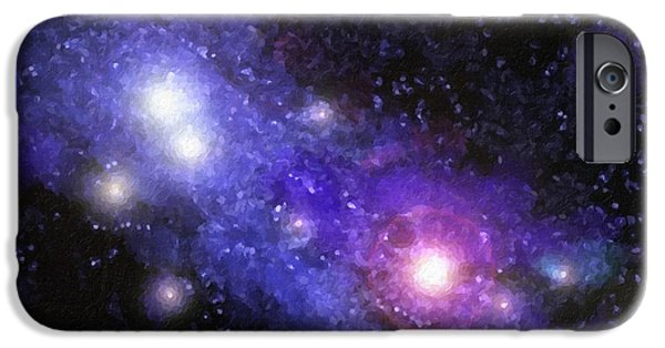 Stellar iPhone Cases - Nebula Digital Painting iPhone Case by Antony McAulay