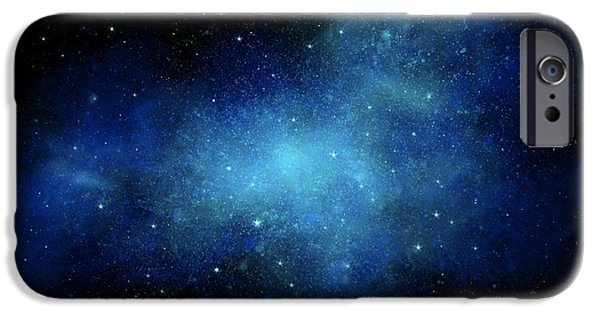 Nebula Paintings iPhone Cases - Nebula Mural iPhone Case by Frank Wilson