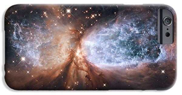 Jet Star iPhone Cases - Nebula Sh 2-106, Hst Image iPhone Case by Nasa/esa/hubble Heritage Team (stsci/aura)