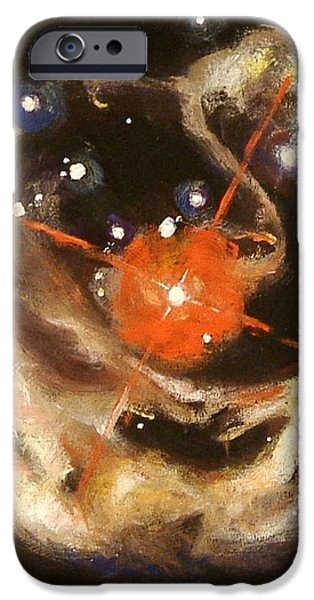 Outer Space Paintings iPhone Cases - Nebula iPhone Case by Sheila Diemert