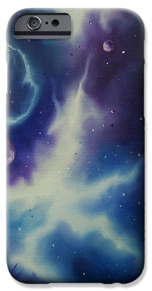 Star System Paintings iPhone Cases - Nebulae NGC -1014 iPhone Case by James Christopher Hill
