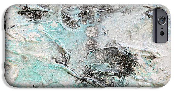 Abstract Reliefs iPhone Cases - Nebulosity iPhone Case by Regina Valluzzi