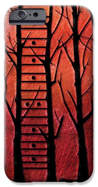 """""""abstract Art"""" Digital Art iPhone Cases - Neck Of The Woods I iPhone Case by Gary Bodnar"""