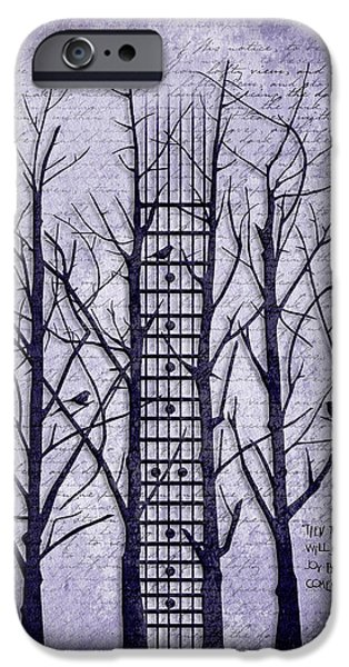 """""""abstract Art"""" Digital Art iPhone Cases - Neck Of The Woods II  iPhone Case by Gary Bodnar"""