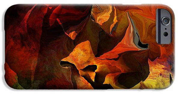 Abstract Digital Art iPhone Cases - Necromamncer iPhone Case by David Lane