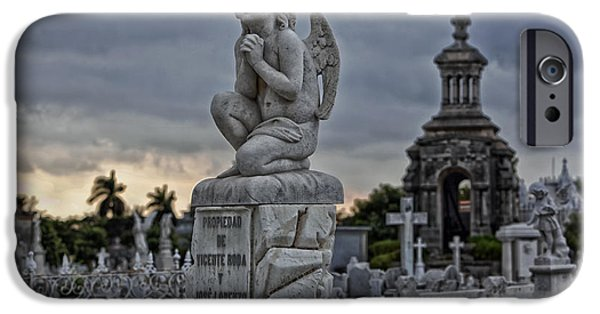 Headstones iPhone Cases - Necropolis de Colon - Havana iPhone Case by Mountain Dreams