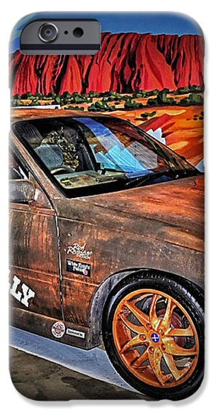 Ned Kelly's Car at Ayers Rock iPhone Case by Kaye Menner