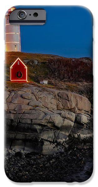 Neddick Lighthouse iPhone Case by Susan Candelario