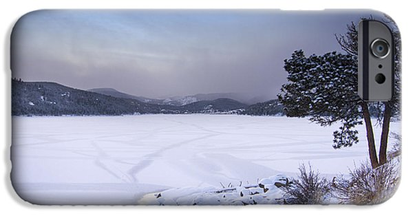 Nederland iPhone Cases - Nederland Colorado Barker Reservoir Winter Scenic View iPhone Case by James BO  Insogna