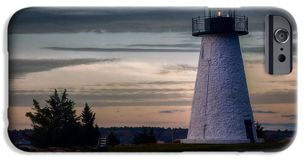 New England Lighthouse iPhone Cases - Neds Point Light iPhone Case by Joan Carroll