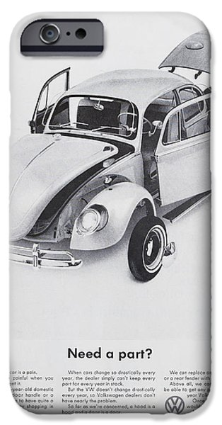 Volks iPhone Cases - Need A Part? iPhone Case by Nomad Art And  Design