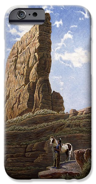 Colorado Mixed Media iPhone Cases - Needle Rock iPhone Case by Gregory Perillo