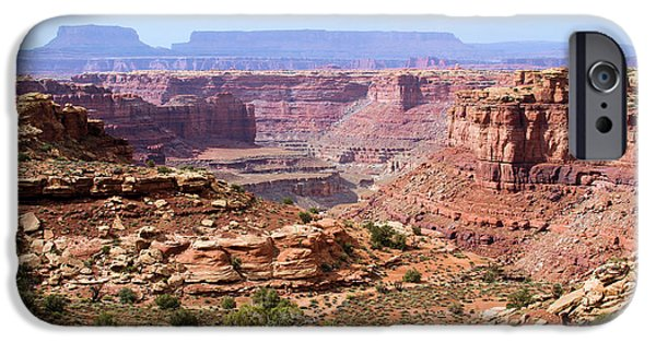 Slickrock iPhone Cases - Needles Grand Canyon iPhone Case by Adam Jewell