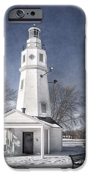 River iPhone Cases - Neenah Lighthouse iPhone Case by Joan Carroll