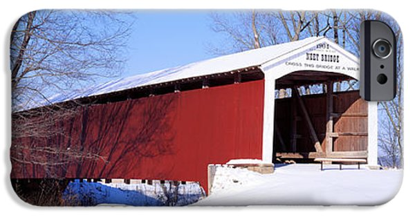 Covered Bridge iPhone Cases - Neet Covered Bridge Parke Co In Usa iPhone Case by Panoramic Images