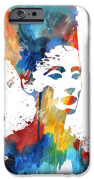 Watercolour Portrait iPhone Cases - Nefertiti  iPhone Case by Luke and Slavi