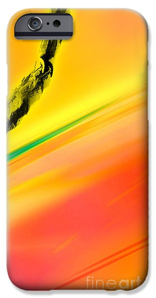 Inverted Drawings iPhone Cases - Negative Dawn - Panel II iPhone Case by Paul Davenport