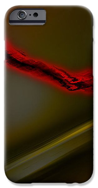 Inverted Drawings iPhone Cases - Negative Dusk - Panel I iPhone Case by Paul Davenport