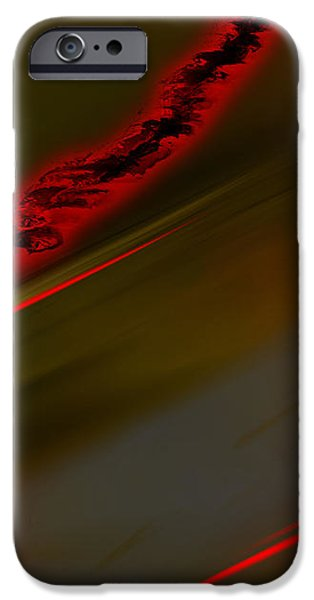 Inverted Drawings iPhone Cases - Negative Dusk - Panel II iPhone Case by Paul Davenport